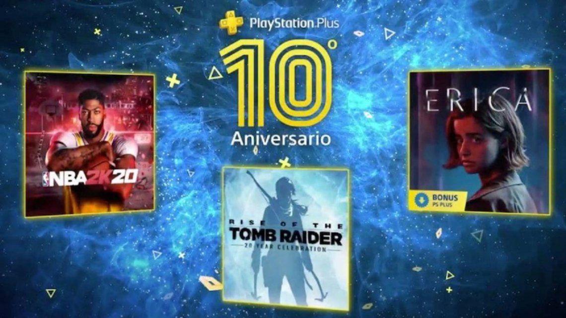 PlayStation: estos serán los videojuegos gratuitos de julio (incluido el bonus por el décimo aniversario de PS Plus)