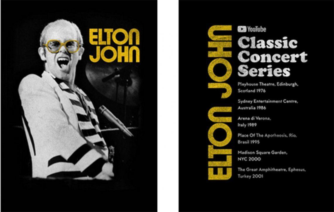 Elton John se suma a los artistas que comparten recitales en YouTube