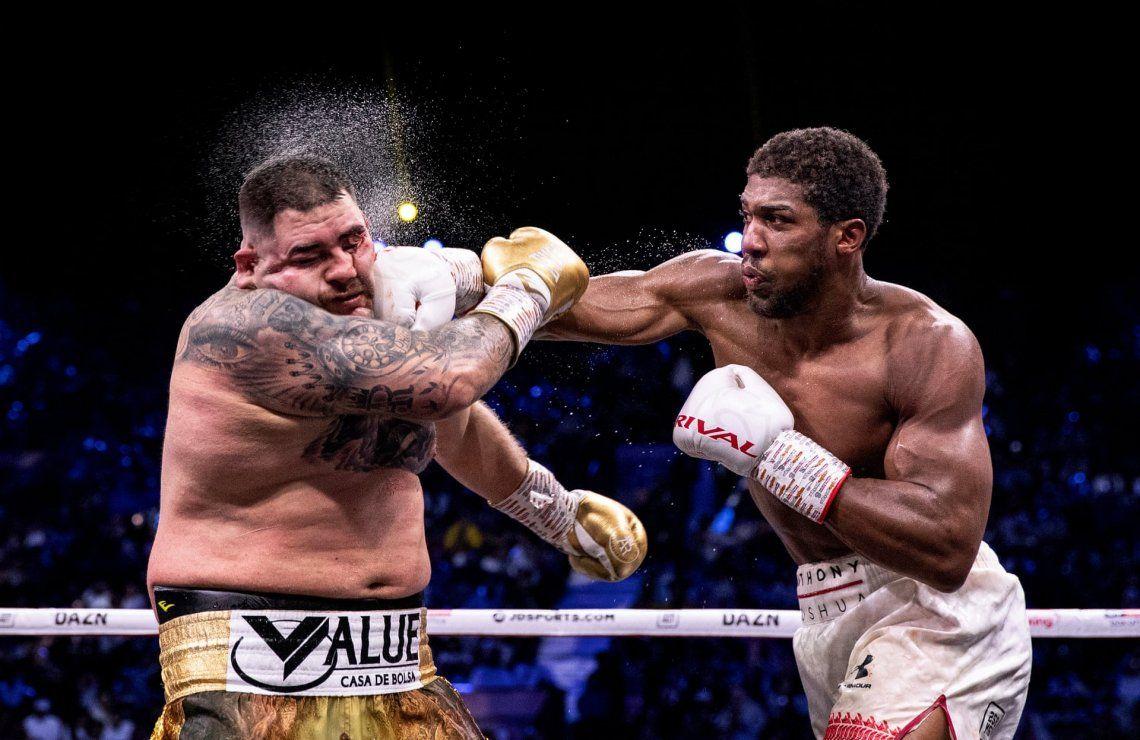 Ganador general.Anthony Joshua golpea a Andy Ruiz Jr