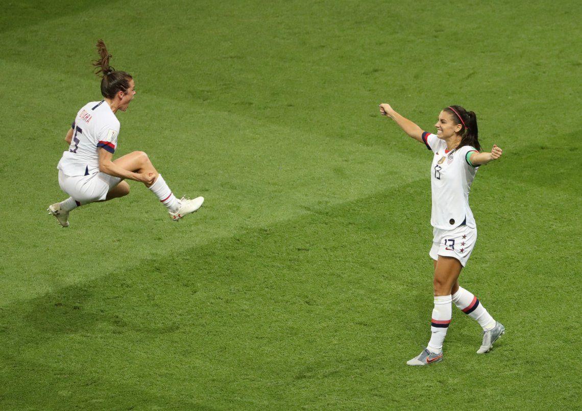 Celebración: oro.Cuartos de final de la Copa Mundial Femenina