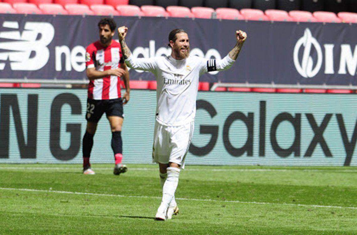 Real Madrid le ganó al Bilbao con otro polémico penal y afianza su liderazgo en La Liga