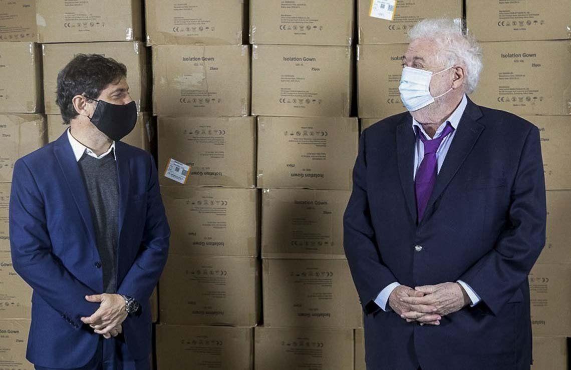 Coronavirus: Ginés González García y Axel Kicillof se reunieron en La Plata analizar datos de la Provincia