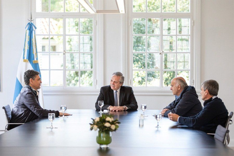 Alberto Fernández se reunió con Jorge Macri, Néstor Grindetti y Juan Zabaleta para analizar la pospandemia