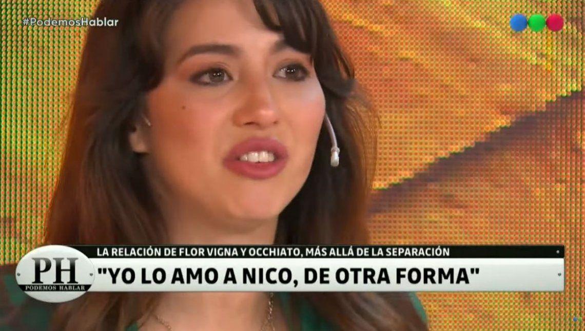 Flor Vigna rompió en llanto al recordar a su ex: Amo a Nico Occhiato, marcó mi vida