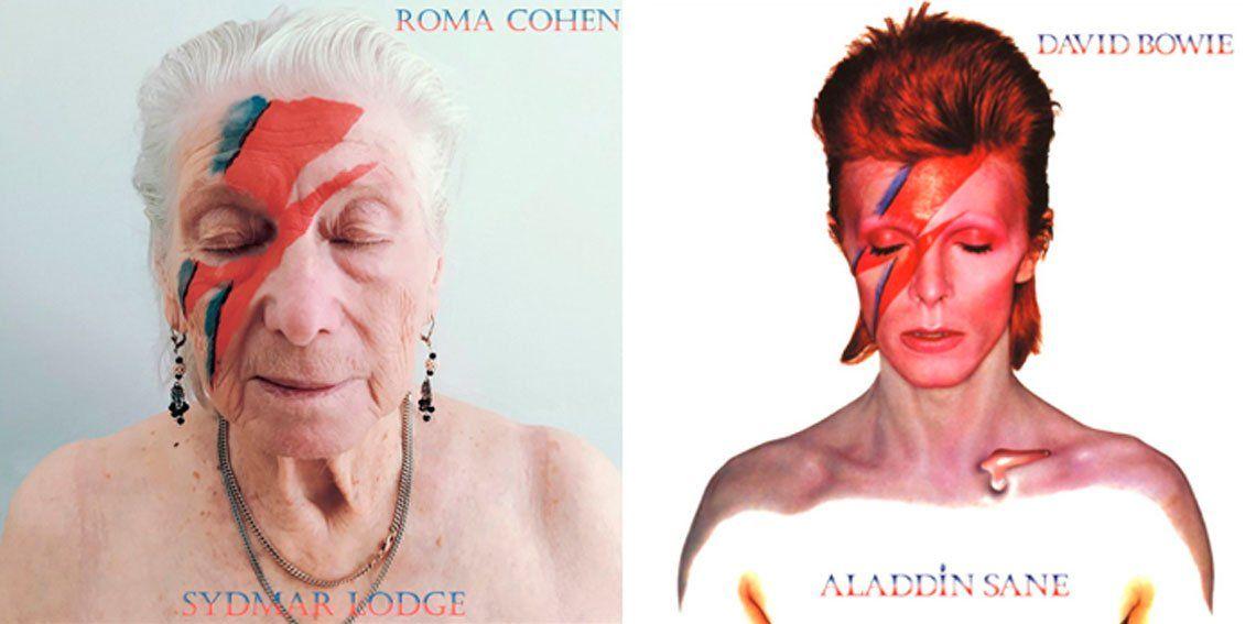 Old School: en un geriátrico recrearon portadas de discos célebres