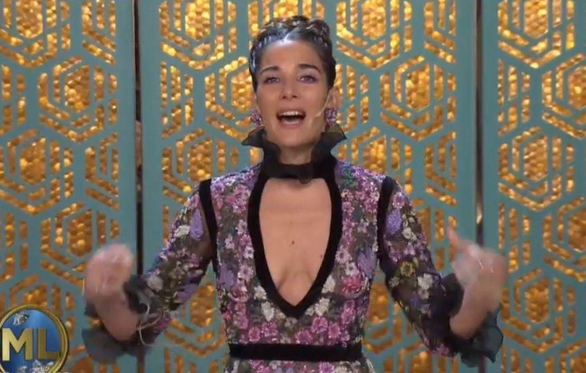 Juana Viale, look con escote y un mensaje para Andy Kusnetzoff