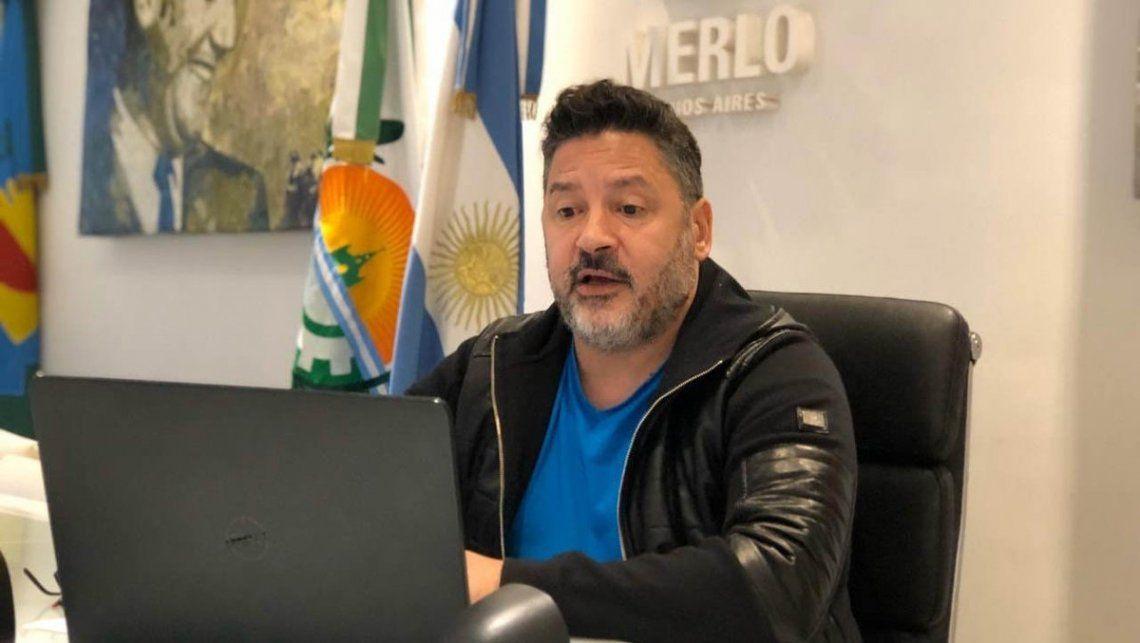El intendente de Merlo y presidente del PJ bonaerense, Gustavo Menéndez, se contagió de coronavirus