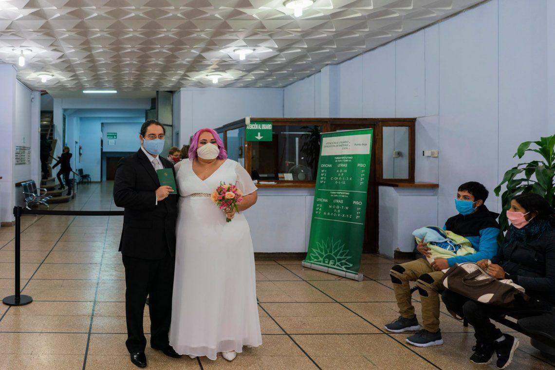 Los recién casados Mauricio Musso y Natalia Perera en medio de la pandemia