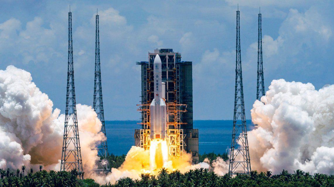 China lanzó su ambiciosa misión a Marte