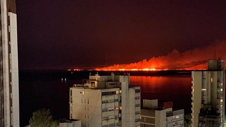 Incendios en el Delta del Paraná: el humo invadió Rosario y el intendente exigió medidas