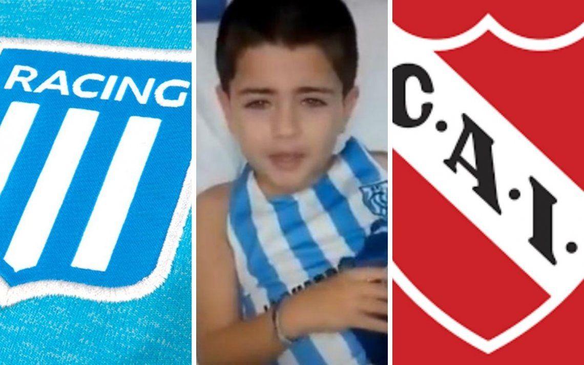 #AyudemosADante, la campaña solidaria que une a Racing e Independiente