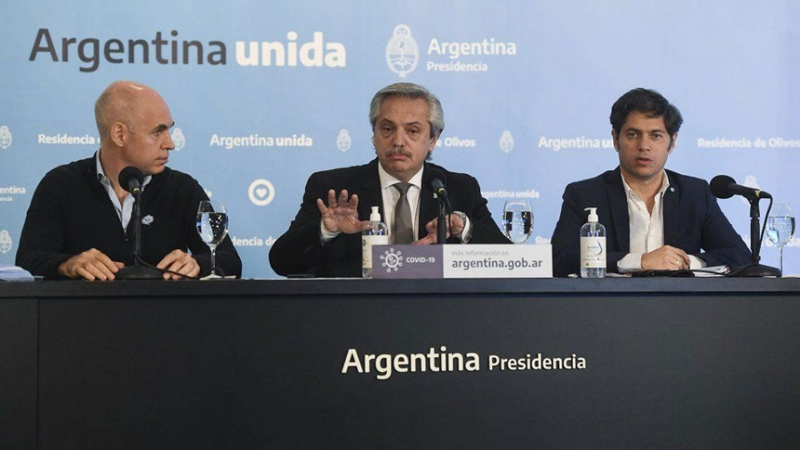 Coronavirus en AMBA: Alberto Fernández anuncia una nueva cuarentena junto a Kicillof y Rodríguez Larreta