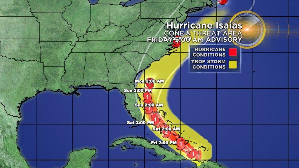 Alerta en Miami por la llegada del huracán Isaías