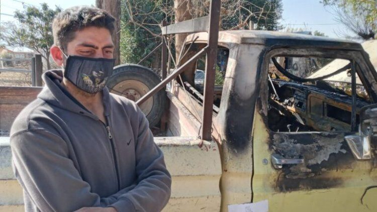 Indignante: le quemaron la camioneta porque pensaron que tenía coronavirus