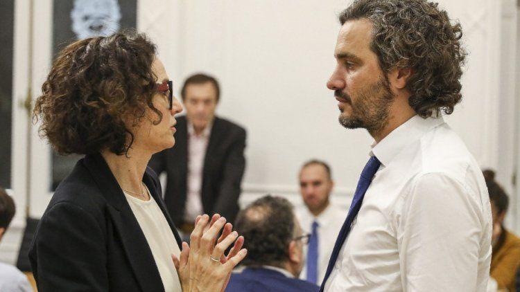 Santiago Cafiero y Cecilia Todesca, los articuladores del plan postpandemia.