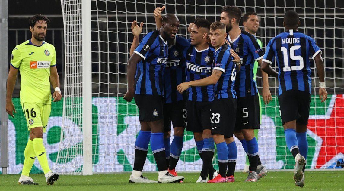 Inter sufrió para vencer a Getafe y avanzó a cuartos de la Europa League