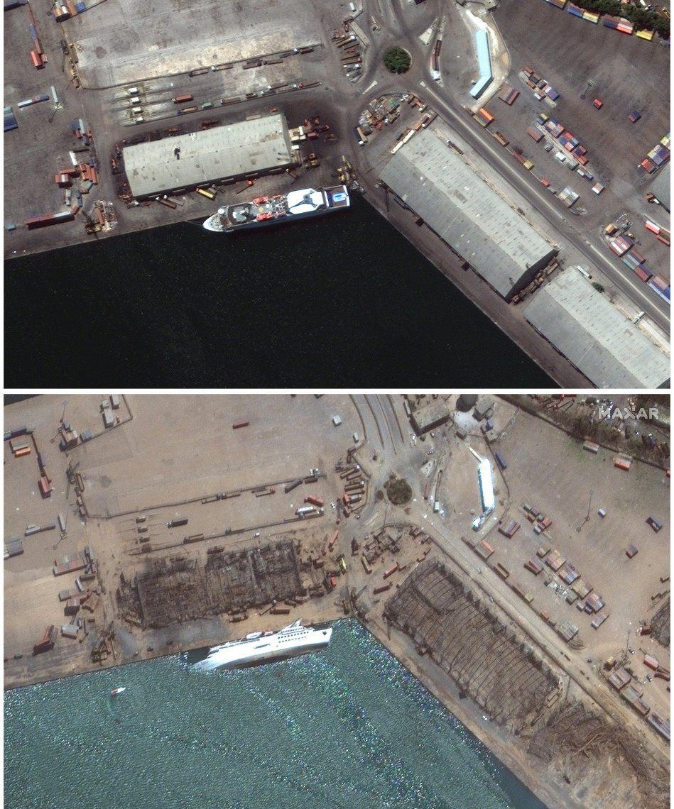 Vistas aéreas de la zona del desastre