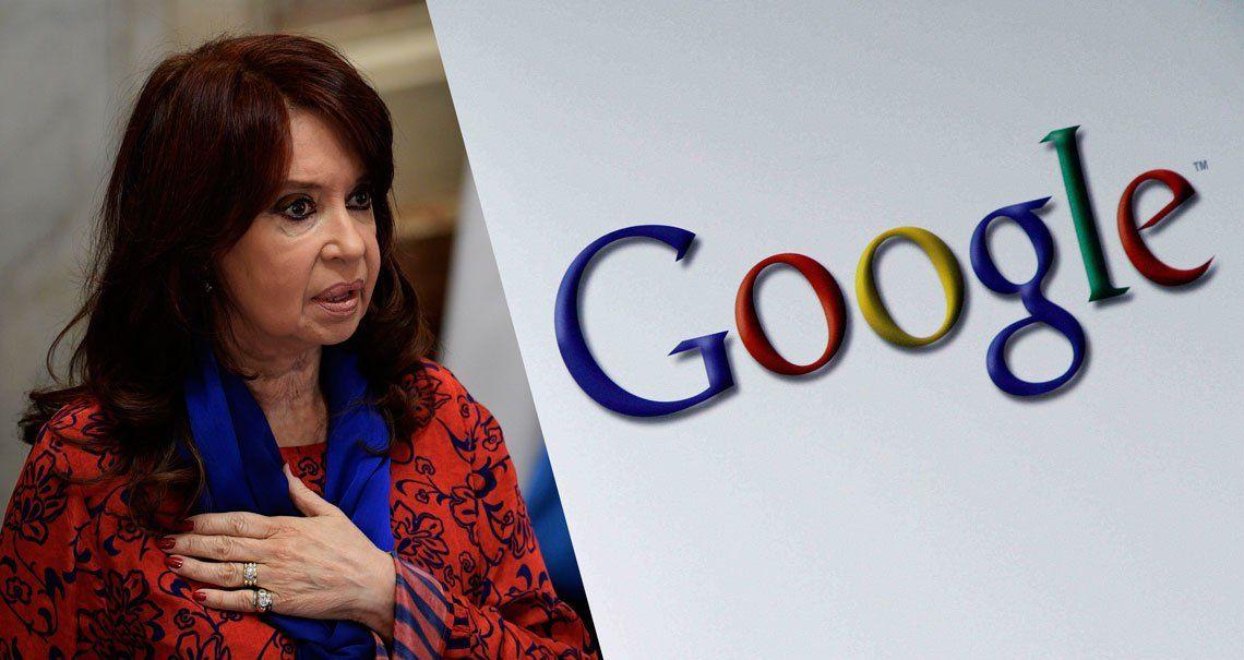 La Justicia dio curso a un pedido de Cristina Kirchner contra Google