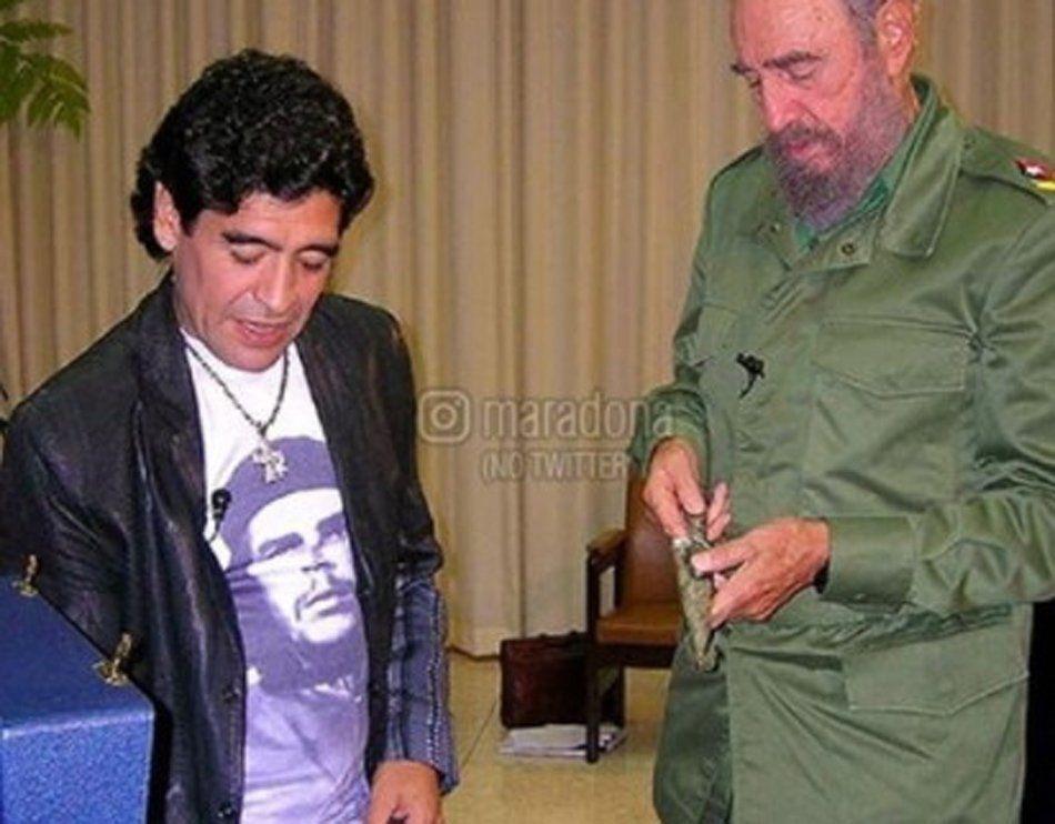Diego Maradona recordó el cumpleaños de Fidel Castro