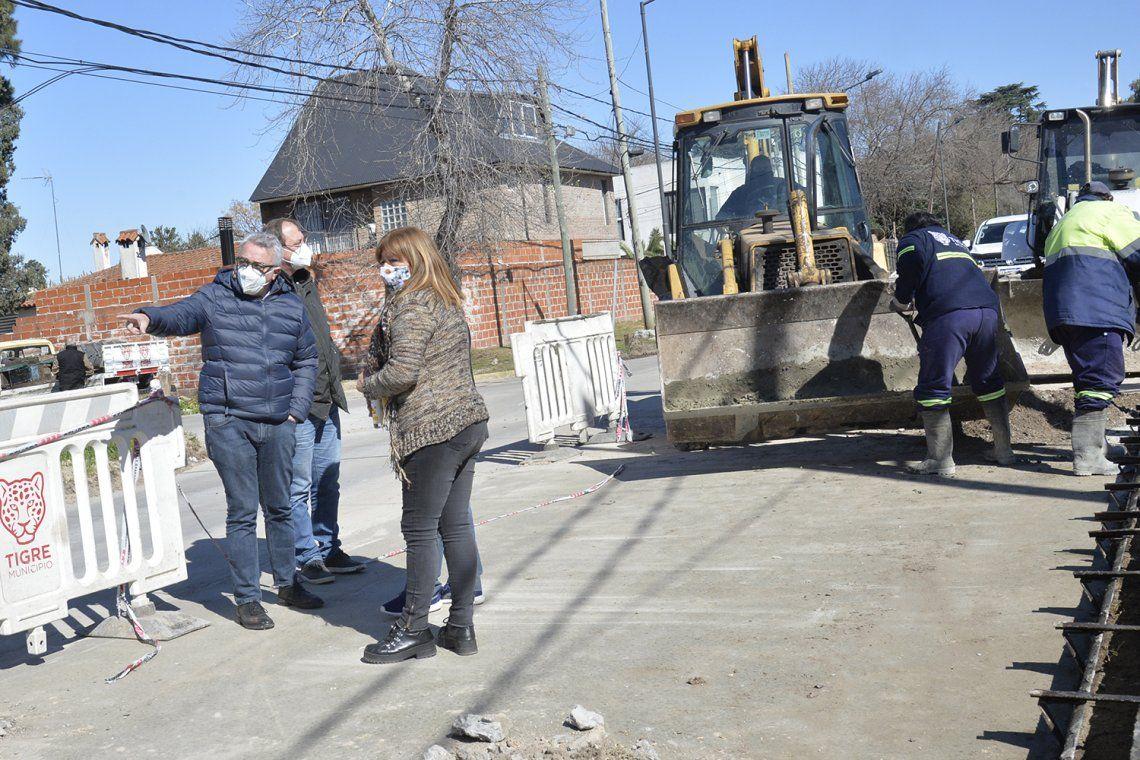 Nuevas obras con inversión municipal en Tigre