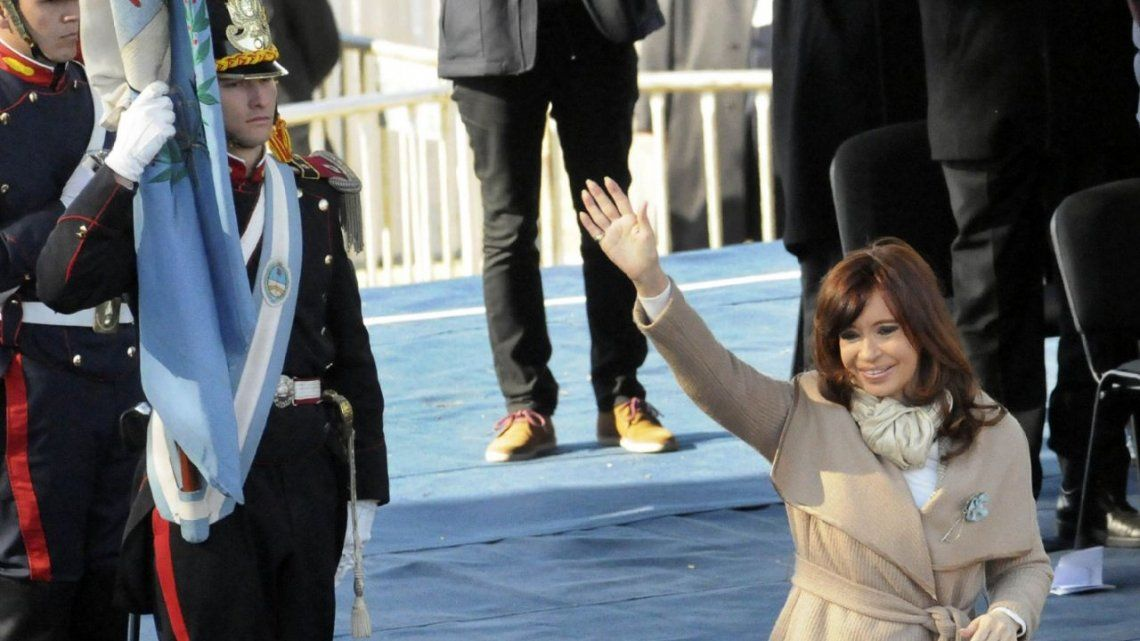 En el día de la marcha opositora, Cristina pidió por la unidad nacional