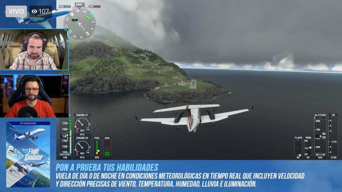 Con Microsoft, se puede pilotear un avión virtual como si fuera real