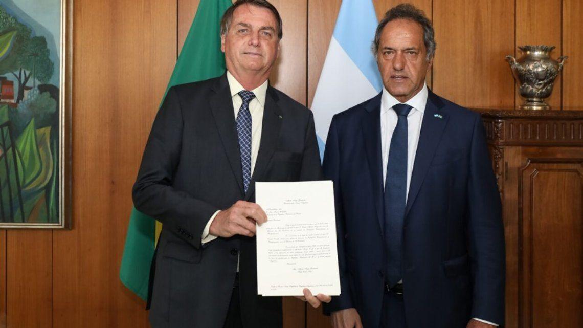 Scioli tras la reunión con Bolsonaro: La voluntad es trabajar juntos y superar los desencuentros