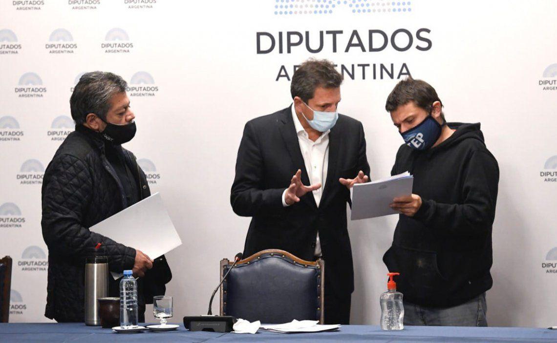 Martínez y Grabois le acercaron ayer a Massa las coordenadas de su ambicioso proyecto y rezan por el aval de Alberto.