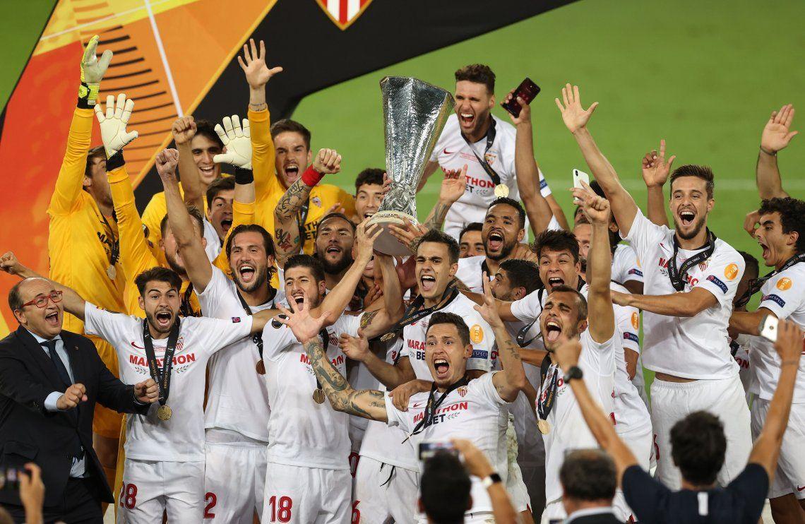 El Sevilla de Banega, Ocampos y Vázquez se coronó campeón de la Europa League