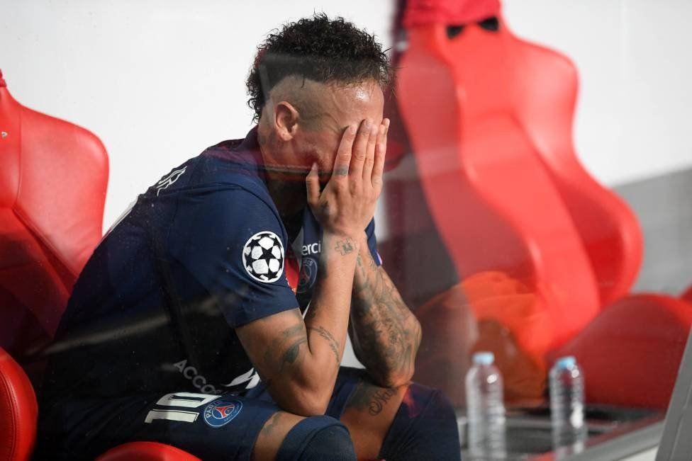Champions League: el desconsolado llanto de Neymar tras perder la final