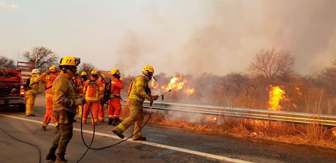 Las dramáticas imágenes de los incendios forestales en Córdoba