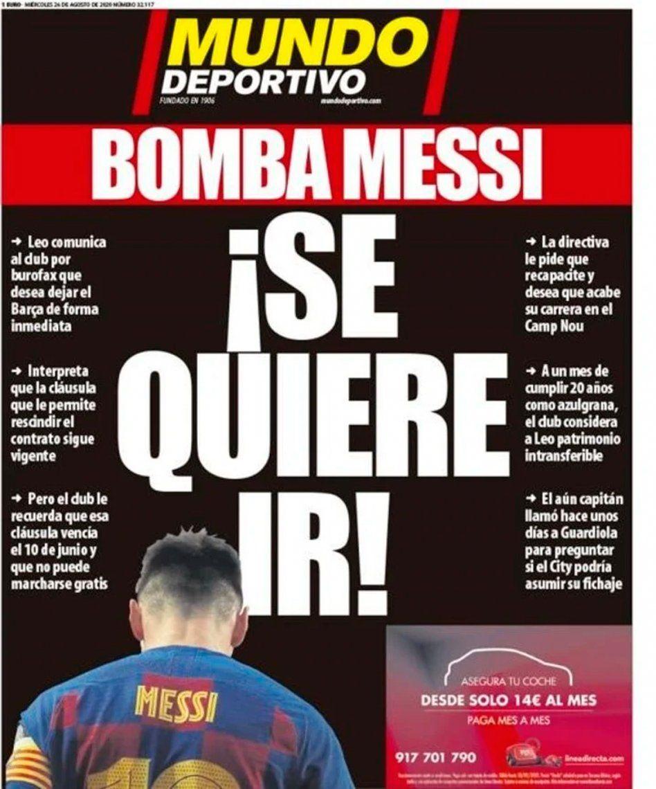 Las portadas de los diarios más importantes del mundo reflejaron la bomba Messi