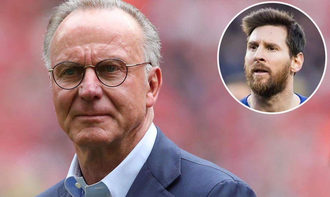 El presidente del Bayern Múnich dice que Messi es demasiado caro