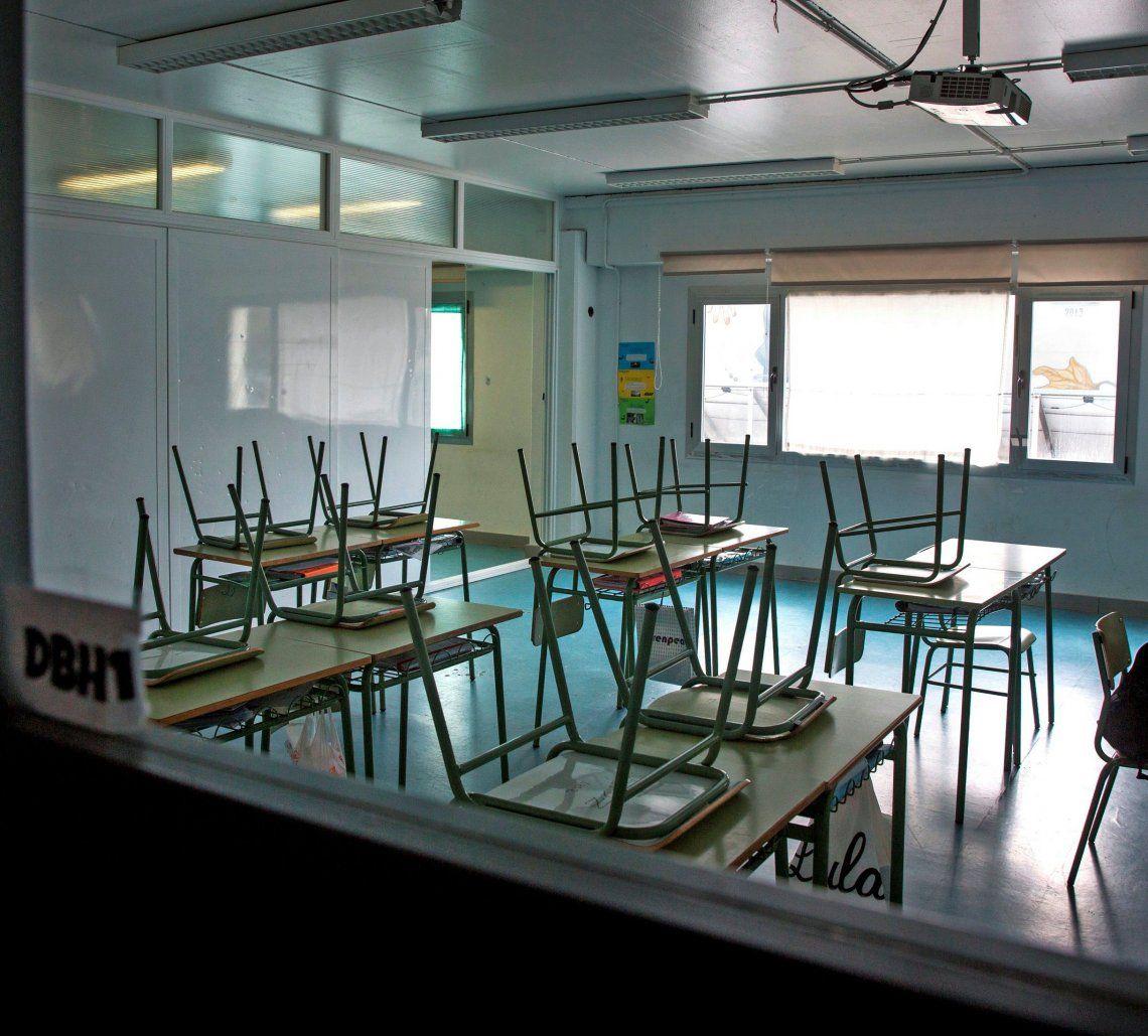 Las aulas permanecen cerradas a la espera del regreso a clases presenciales.