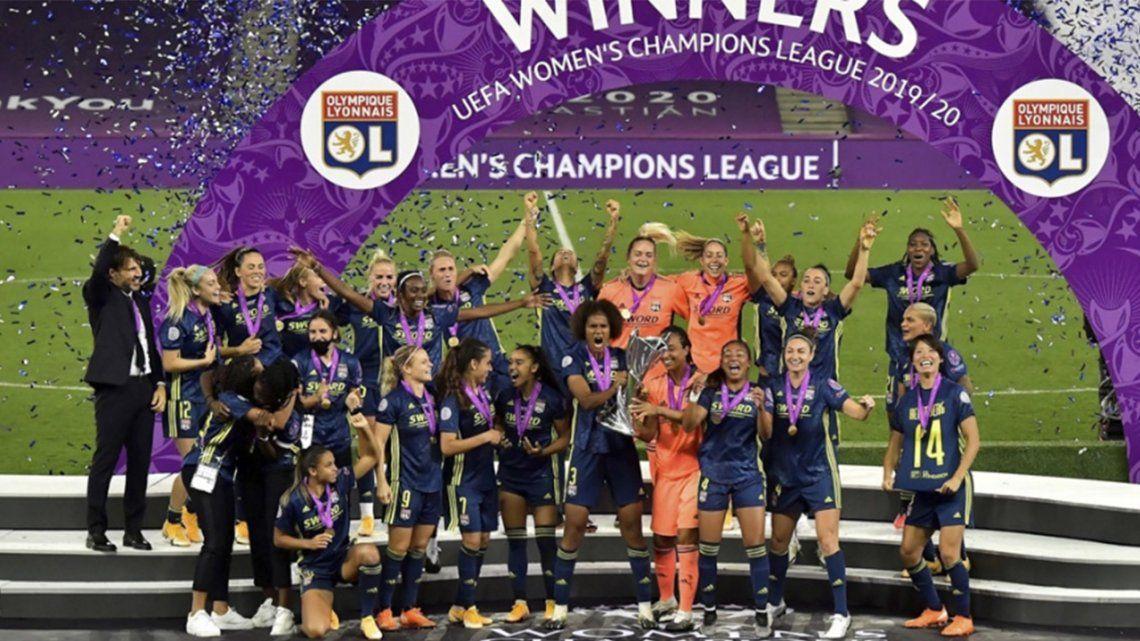 Imbatibles: Olympique Lyon se consagró campeón por séptima vez