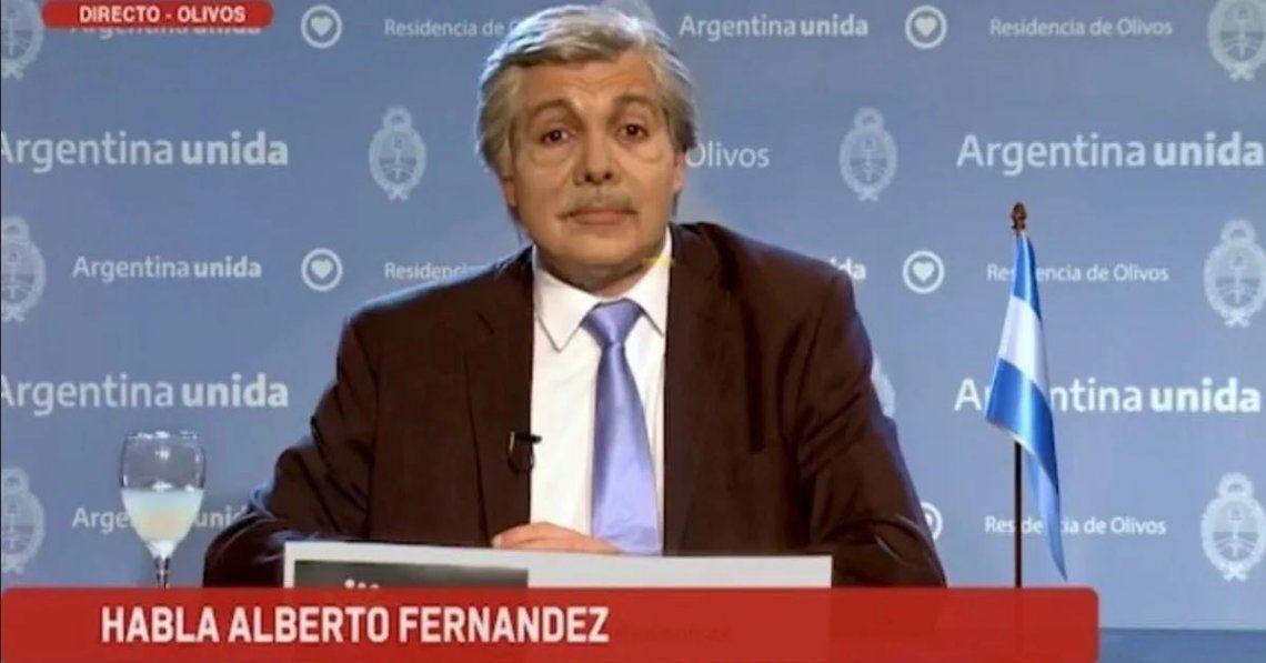 Martín Bossi se pone en la piel de Alberto Fernández en un desopilante video
