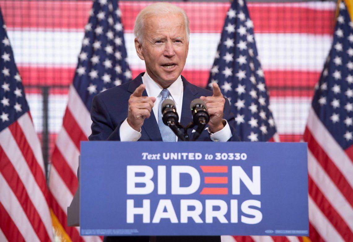 Una encuesta ubica a Joe Biden 10 puntos arriba de Donald Trump