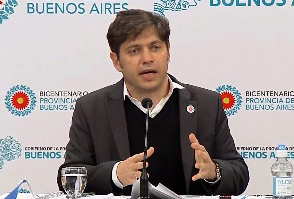 Axel Kicillof anunció un plan para la pospandemia, con obra pública, créditos y generación de empleo