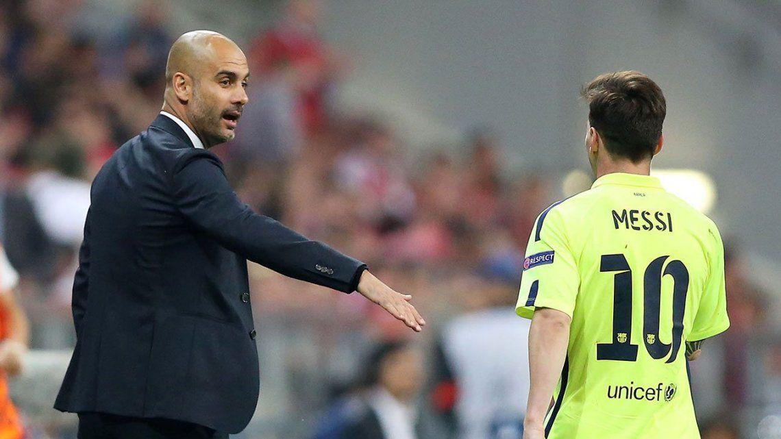 Guardiola más Messi