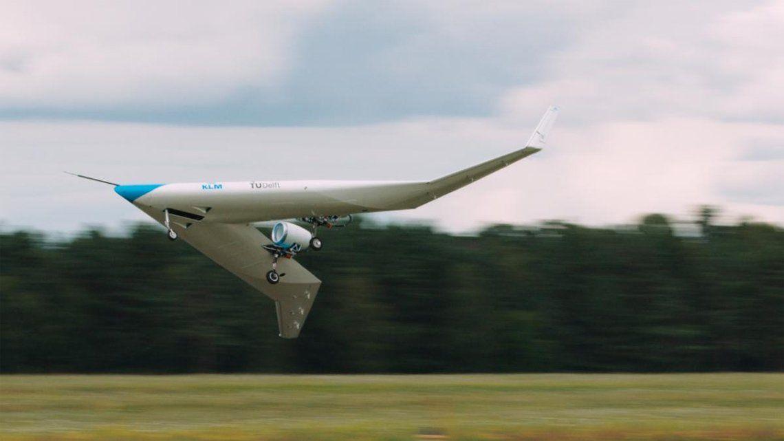 El Flying-V: avión del futuro que llevará pasajeros en las alas