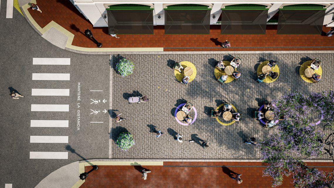 CABA: cuáles son las 15 áreas peatonales transitorias para facilitar el distanciamiento social