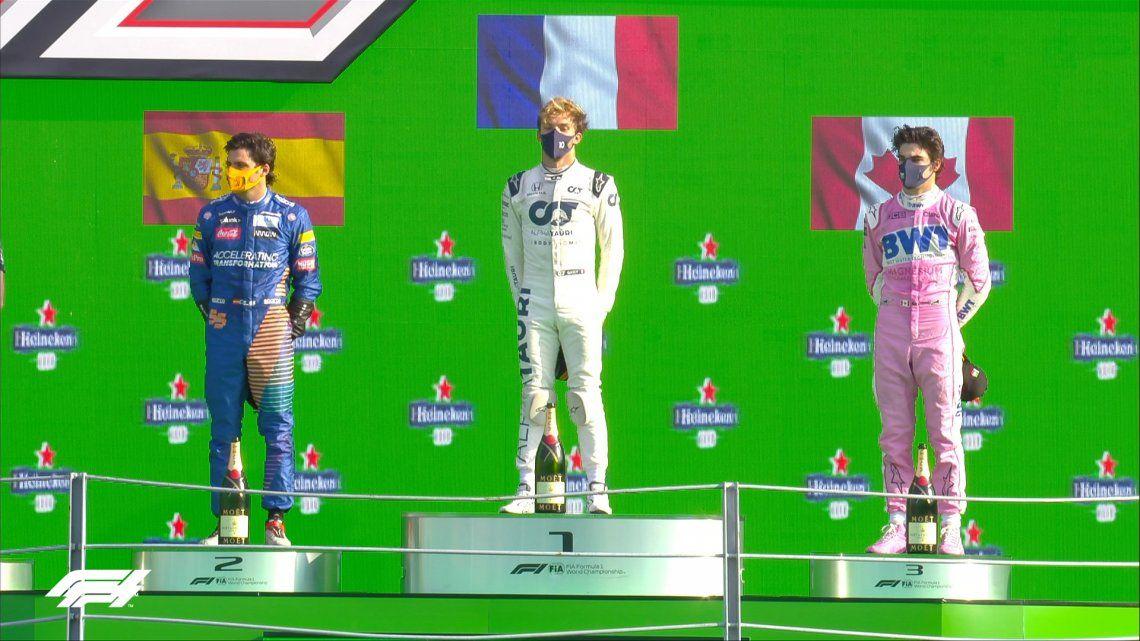 Fórmula 1: con Hamilton penalizado y Leclerc accidentado, Pierre Gasly se quedó con el GP de Monza