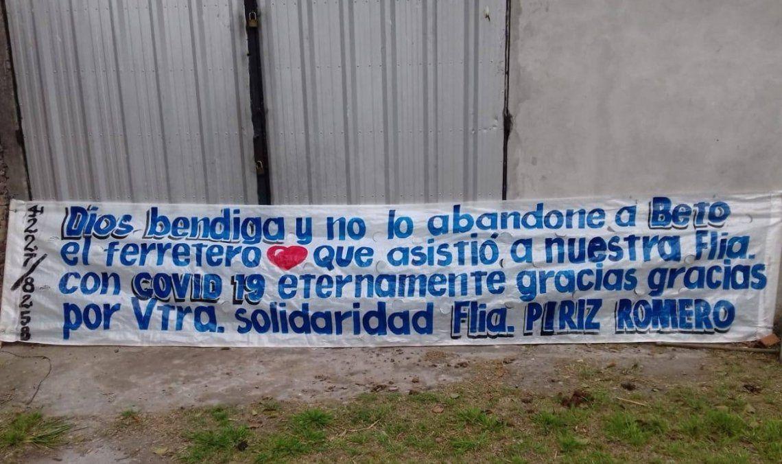 El pasacalle que destacó el gesto solidario de Luis Alberto Beto Sánchez.