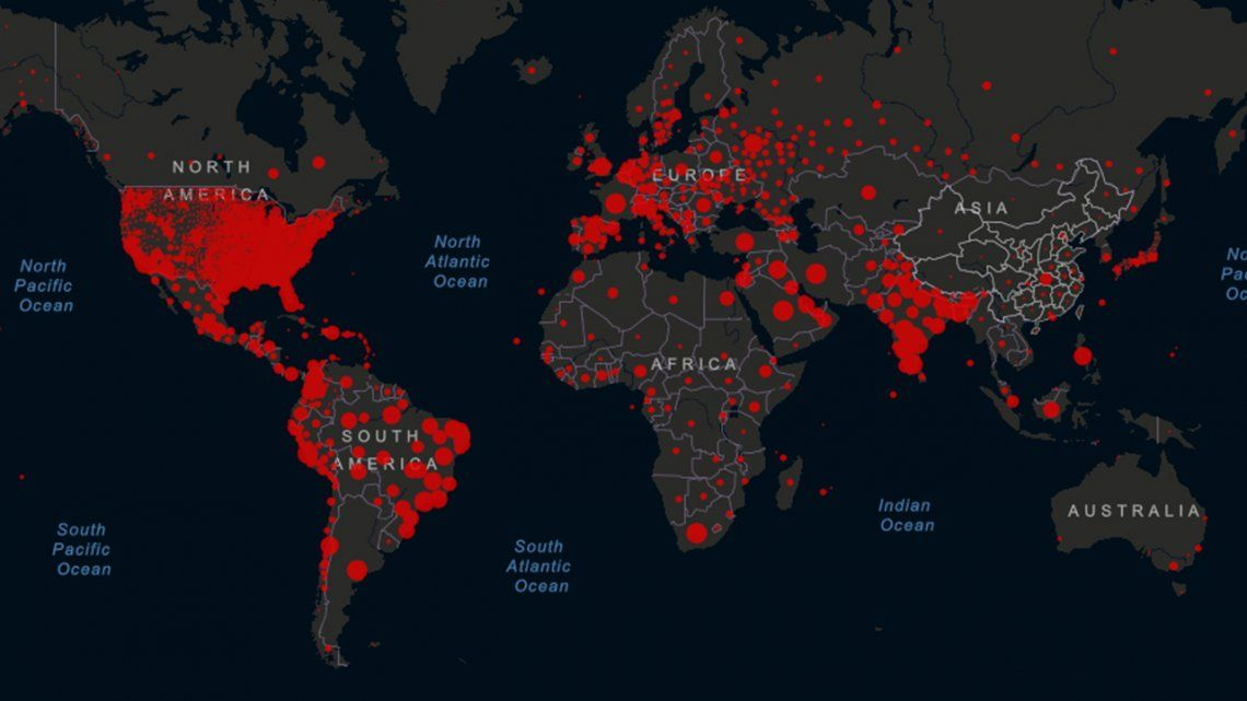 Coronavirus: cantidad de infectados y muertos en el mundo