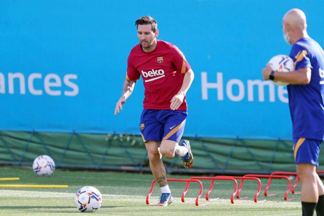 Por qué Messi se entrenó al margen de sus compañeros