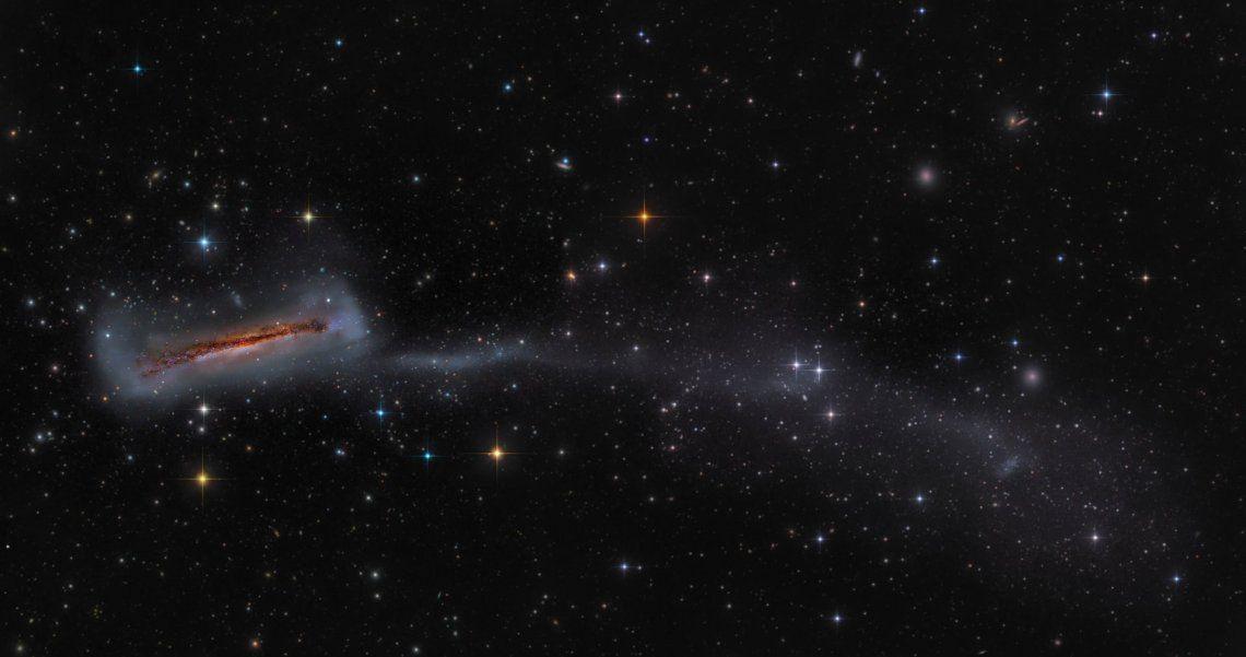 Segundo categoría galaxias: NGC 3628 con 300.000 años luz de cola larga por Mark Hanson (EE. UU.)