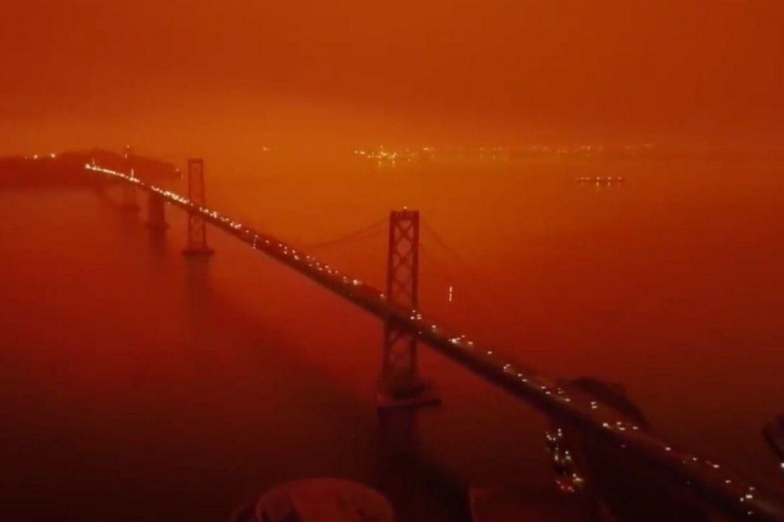 Video viral: Así se ve el apocalíptico cielo naranja en San Francisco