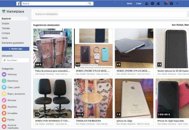 Marketplace (Facebook) es una de las plataformas favoritas de los estafadores para captar víctimas.