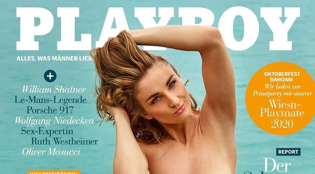Elena Krawzow, nadadora paralímpica alemana, es tapa de Playboy