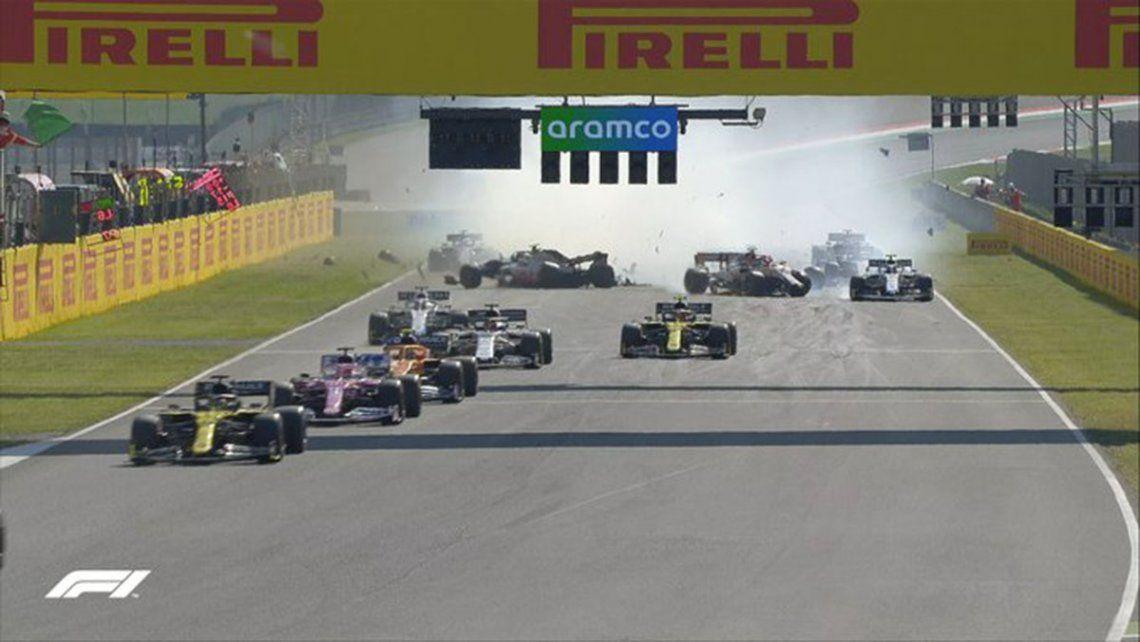 Fórmula 1: Hamilton se quedó con el GP de la Toscana en una carrera repleta de accidentes